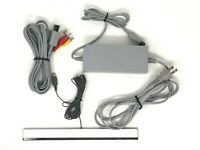 Nintendo Wii AC Power Adapter, AV Cable, & Sensor Bar Bundle - Cleaned & OEM