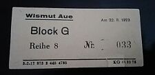 Ticket 22.8.1973 BSG Wismut Aue Dynamo Dresden DDR Oberliga Eintrittskarte SGD