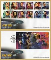 2020 STAR TREK Stamp Set or Mini Sheet FDC FIRST DAY COVERS (Choice)