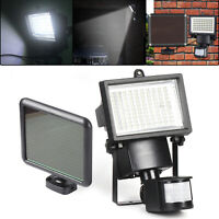 100 LED Garden Floodlight PIR Security Light Outdoor Solar Power Motion Sensor