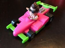 Bob Big Boy PVC Toy Race Car Formula 1 Yellow/Red Bob's Topper Lot Figure