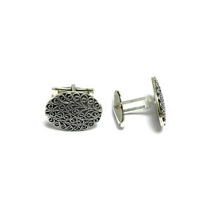 Handmade Cuff Links Jewelry Made of Sterling Silver