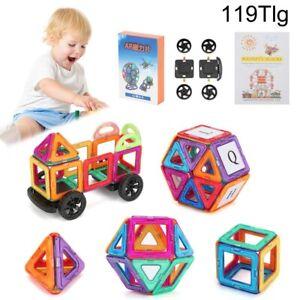 119stk Blocks Magnetic Building Kinder Spielzeug Magnetische Bausteine Blöcke