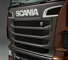 2x Stainless Steel Front Frame Grill Decorations for Scania R P 2010-16 Trucks