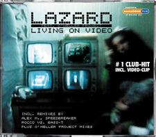 Lazard - Living On Video - Maxi-CD incl. Rocco vs. Bass-T + Verano Mixes NEW
