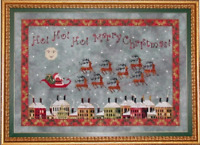 PRAISEWORTHY STITCHES Cross Stitch Pattern Chart SANTA'S MIDNIGHT FLIGHT