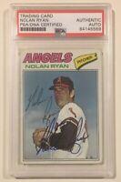 1977 Topps NOLAN RYAN Signed Autographed Baseball Card PSA/DNA #650