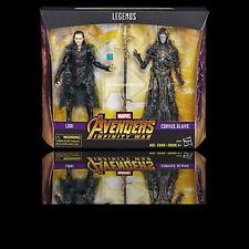 (IN HAND) Marvel Legends Series Avengers Infinity War Loki & Corvus Glaive 2Pack