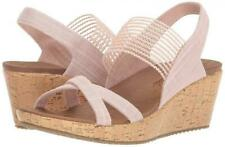 Skechers Beverlee-High Tea Luxe Foam Wedge Sandal Pink Womens 7.5 & 8 NEW