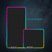 Cool RGB LED Gaming Mouse Pad Desk Mat Extended Anti-slip Rubber Speed Mousepad