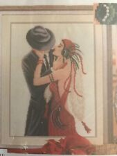 VERVACO/VERACHTERT/SEPIA -CROSS STITCH KIT-ART DECO COUPLE-STUNNING KIT