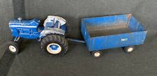 Vintage ERTL FORD 8000 Die Cast Metal Toy Tractor 1/12 Scale 3 Point Hitch wagon