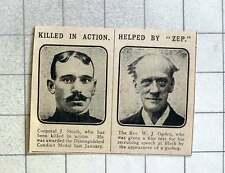 1915 Rev Wj Ogden Recruiting Speech At Blythe Helped By Zeppelin, Cpl J Smith