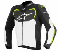 Alpinestars GP Pro Leather Sport Motorcycle/Motorbike Jacket -Black-White-Yellow