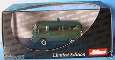 VW VOLKSWAGEN MINIBUS T2a POLIZEI SCHUCO 03222 1/43 POLICE FENSTERBUS GRUN GREEN