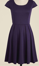 NWD Modcloth Up to the Minimalist Dress in Plum 1X Yellow Star A-line Purple