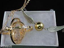 Harry Potter Time Turner+ Harry Potter Golden Snitch Double Wings Bracelet - USA
