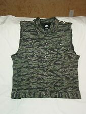 Urban Outfitters ? Kill City Studded Camo Denim Truckers Vest Biker Punk Country