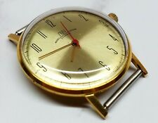 Men's vintage mechanical watch Luch 2209 Gold plated case and movement