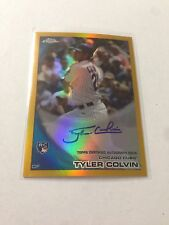 2010 TOPPS CHROME GOLD REFRACTOR AUTOGRAPH TYLER COLVIN REF AUTO RC /50