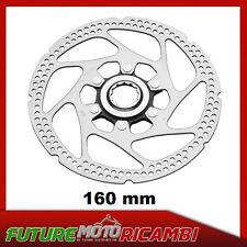 DISCO FRENO 160mm PER LA BICICLETTA BICI MTB BMX CENTER-LOCK ROTOR