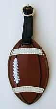 aa Football LUGGAGE TAG SPORTS BAG ID faux vegan leather backpack flair ganz