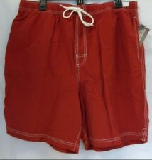 Roundtree & Yorke Size L Large Bright Red New Mens Swimming Trunks Swimwear