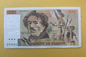 BILLET DE 100 FRANCS DELACROIX 1983
