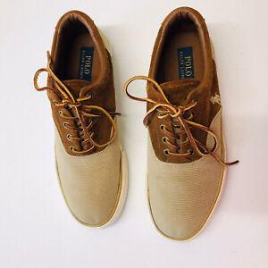 Polo Ralph Lauren Men's Shoes Low Casual Twill Suede Size 9 D Lace Up