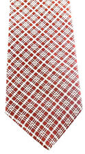 Old Navy Clothing Company Necktie Tie Silk Red White Plaid Made In USA