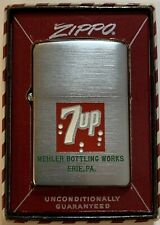 Vintage 1958 Zippo with 7up Logo - Mint in Red Striped Box - Rare