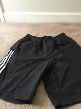ADIDAS Mens Athletic Nylon Shorts Sz L Black/White Clothes