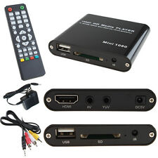 AGPTEK HD Multi TV Media Player Full 1080P Digital With HDMI AV SD MMC MKV
