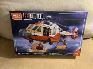 Mega Construx Probuilder Helicopter Rescue - AGES 10+, 746 PIECES New Sealed Box