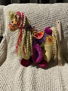 2001 GROOVY GIRLS POSEABLE HORSE CALYPSO CALLIE WOOL MANE