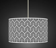 50cm Grey Retro Geometric Handmade fabric lampshade pendant 538 Light Shade