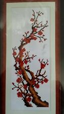 "Counted Cross Stitch Kit Tree w/Blossoms 17x8"" Sew Craft Needlework NEW"