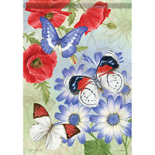 """New listing Patriotic Butterflies House Flag 28"""" x 40"""" Double sided by Carson"""