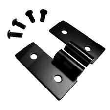 Lower Door Hinge Bracket Set for Jeep Wrangler TJ YJ Black Stainless RT34092