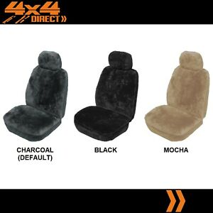 SINGLE 27mm SHEEPSKIN ALL OVER CAR SEAT COVER FOR TRIUMPH TR 4
