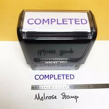New Listingcompleted Self Inking Rubber Stamp Purple Ink Ideal 4913