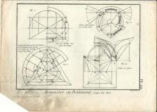 Stampa antica LAVORAZIONE LEGNO Pl22 Enciclopedia Diderot 1790 Old antique print