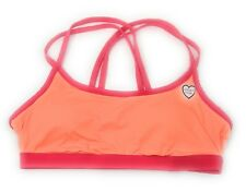 Victoria's Secret PINK Yoga Bra Bralette Removable Pads Stain Orange Large