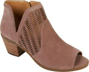 Lucky Brand Bahrie Leather Shootie DUSTY ROSE 6.5M NEW 673-187