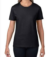 Gildan Ladies tee Premium Cotton T-Shirt tshirt women's round neck brand new