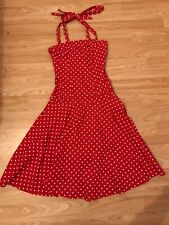 Asos Fifties Vintage Style Red Polka Dot Pin Up Dress 6