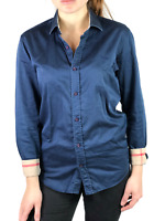 Authentic women's BURBERRY BRIT blue nova check cotton shirt | Size M