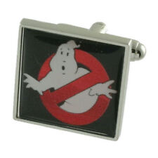 Ghostbusters Novelty Solid Sterling Silver 925 Cufflinks Engraved Message Box
