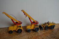 Lesney Aveling Barford Tractor Shovel Taylor Jumbo Crane Construction Lot of 3