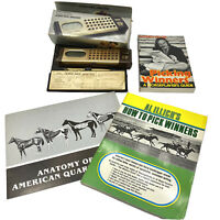 Vtg Mattel Electronics Thoroughbred Horse Racing Analyzer + Handicapping Books